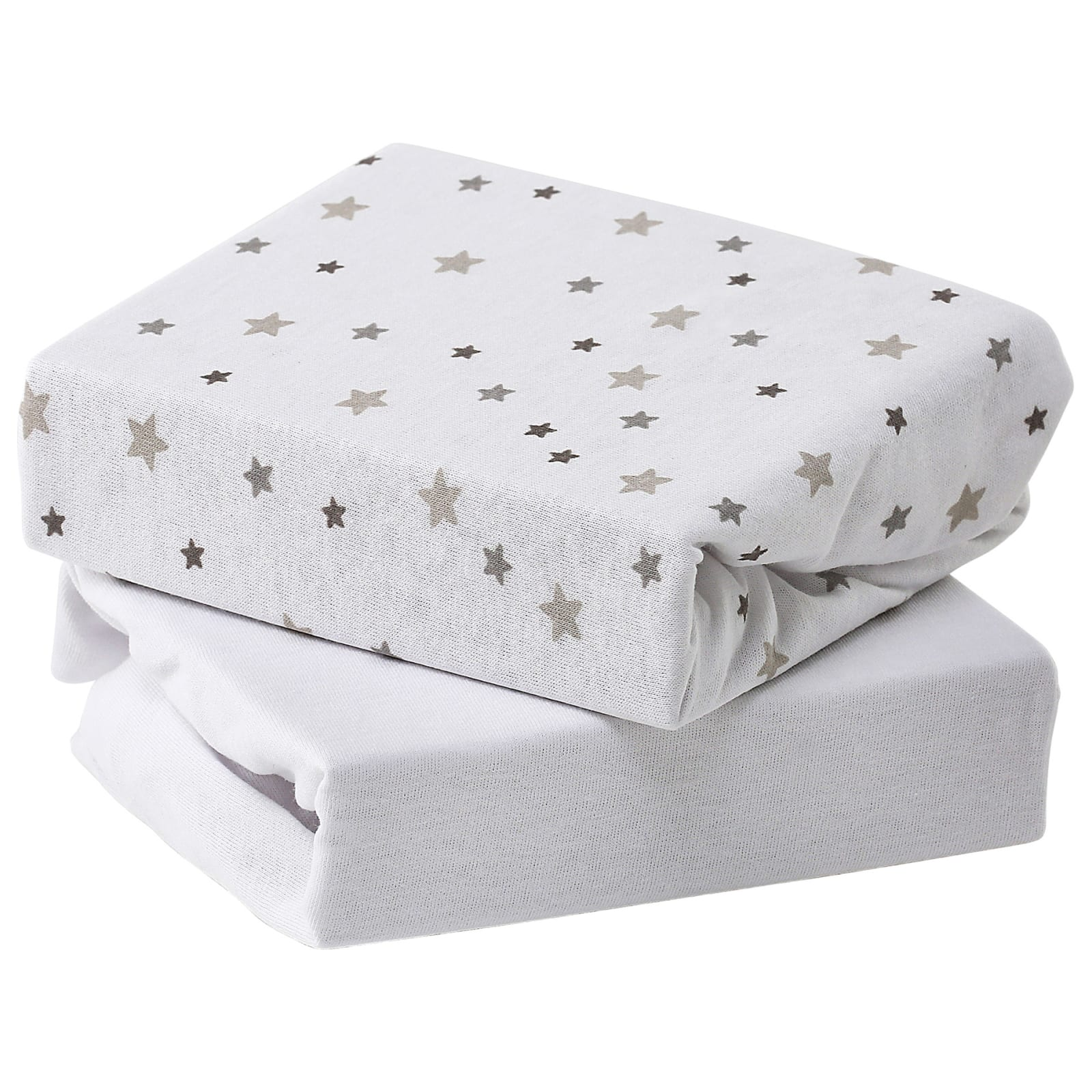 Baby Elegance Travel Cot Fitted Sheet Pack of 2, Cream
