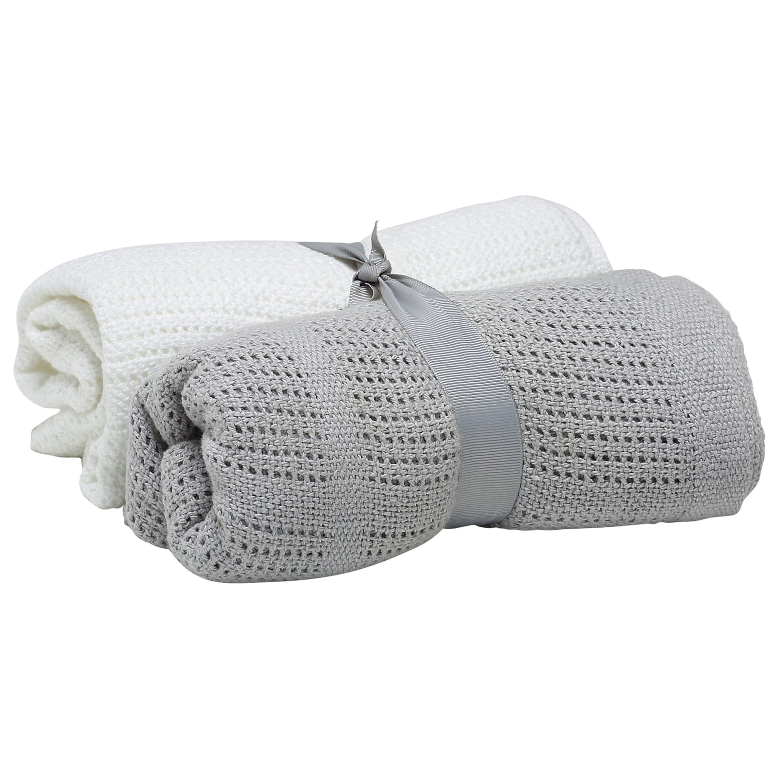 2 Pack Cellular Blanket – Grey and White product image