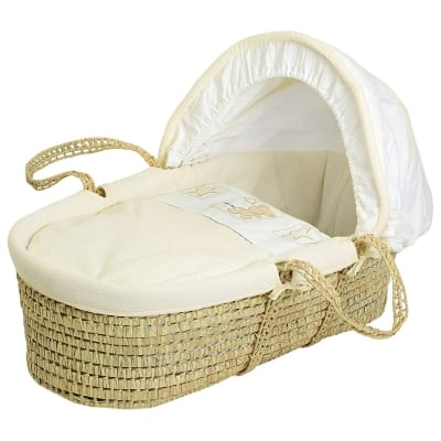Star Ted Moses Basket - Cream