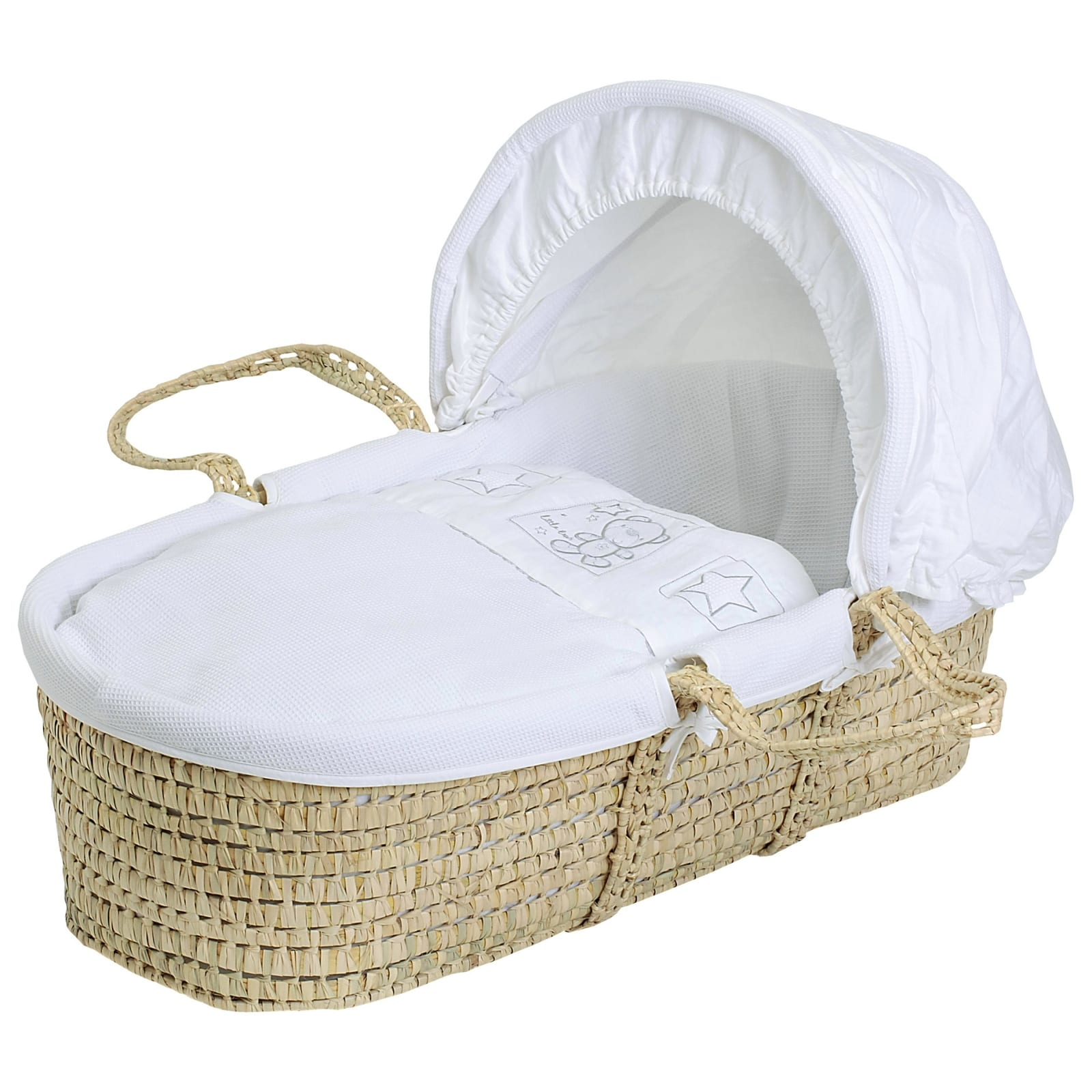 Star Ted Moses Basket – Palm – White product image