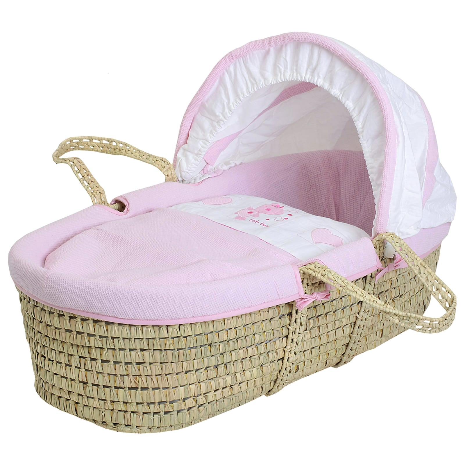 Star Ted Moses Basket – Palm – Pink product image