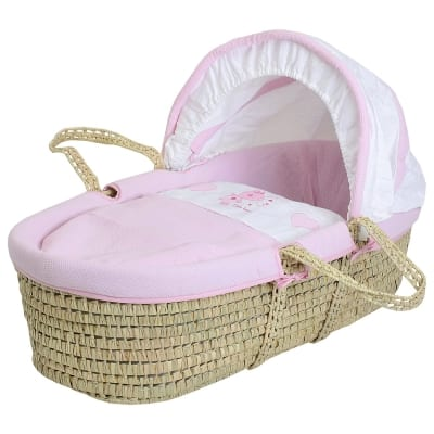 Star Ted Moses Basket - Palm - Pink