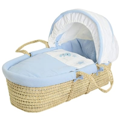 Star Ted Moses Basket - Palm - Blue