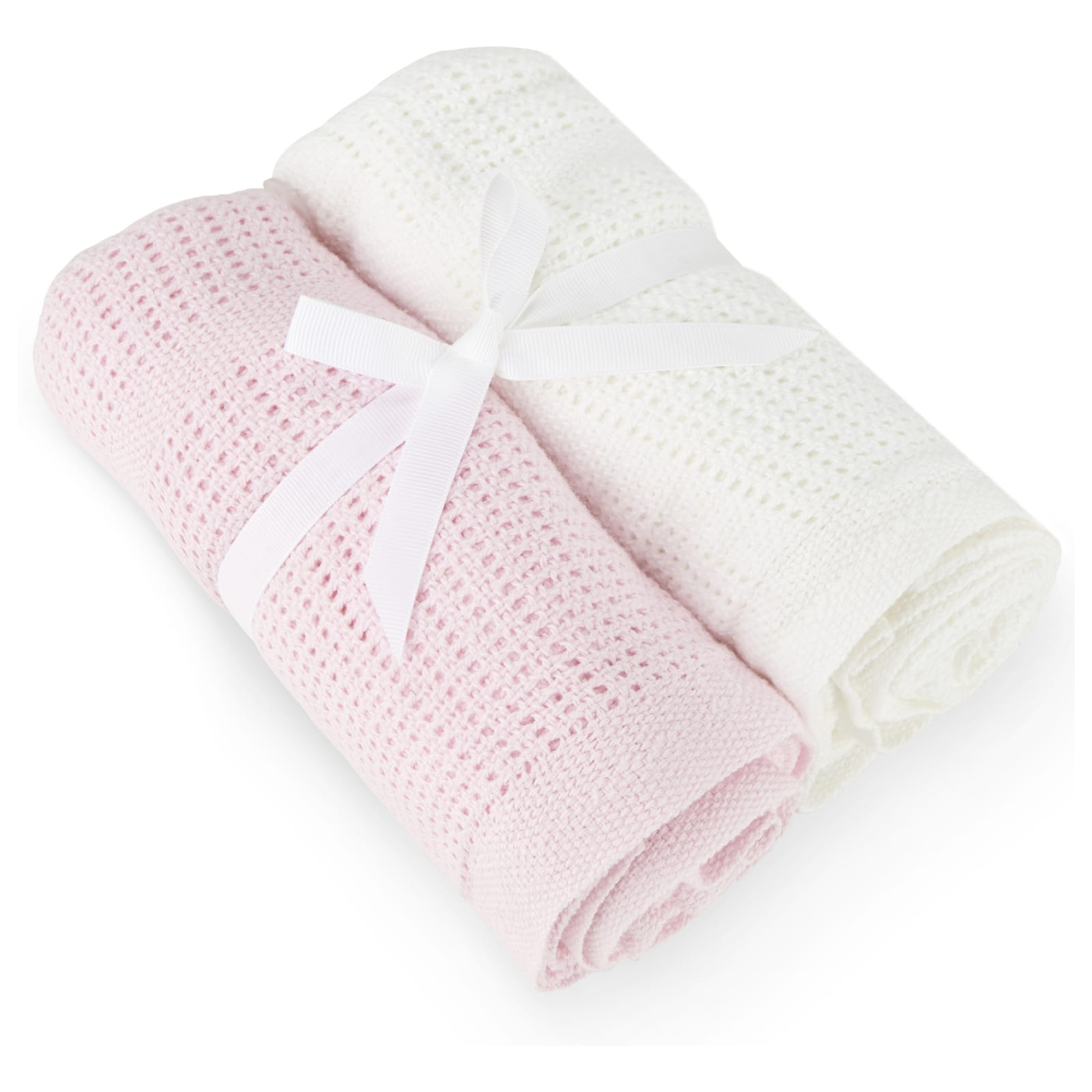 2 Pack Cellular Blanket – Pink and White product image
