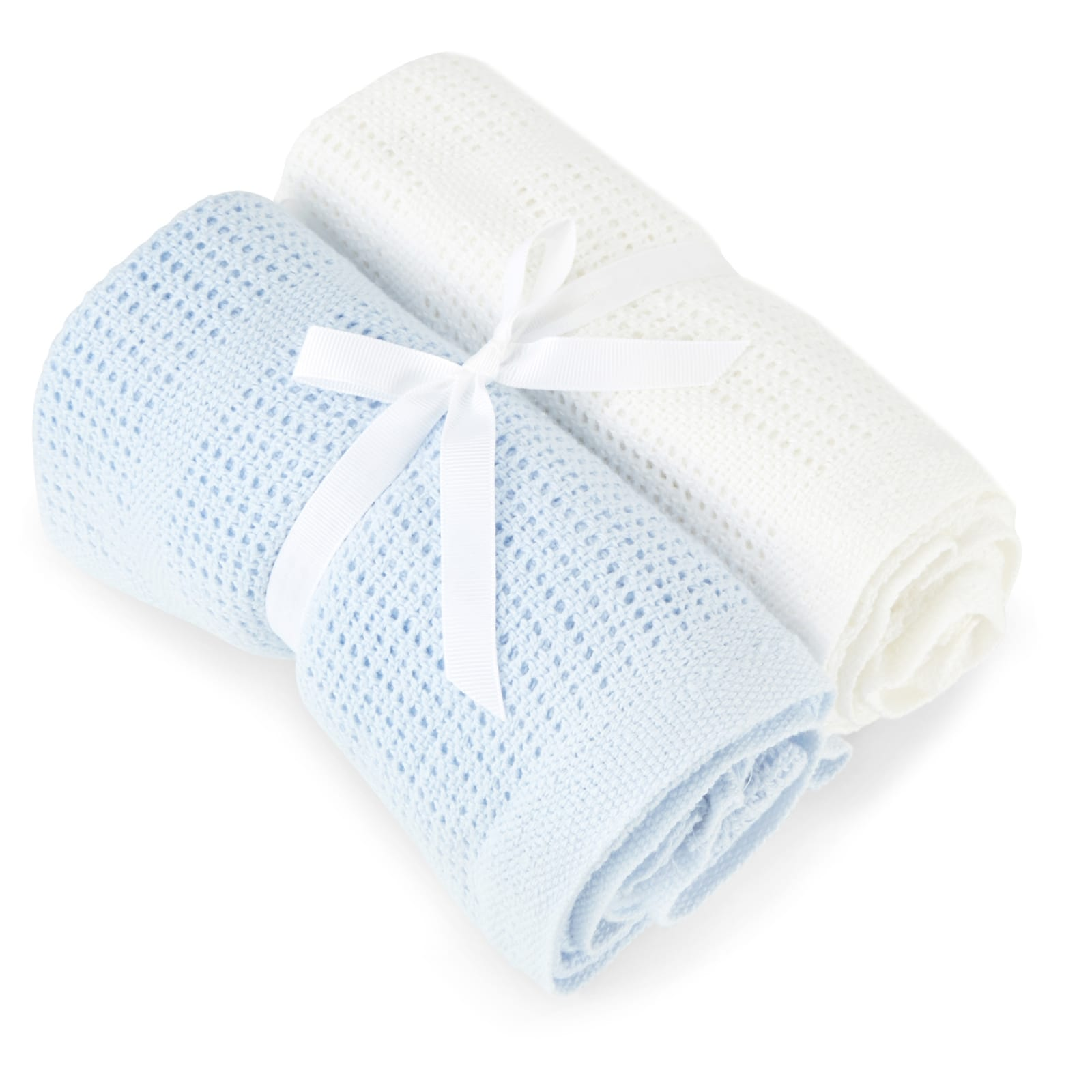 2 Pack Cellular Blanket – Blue and White product image