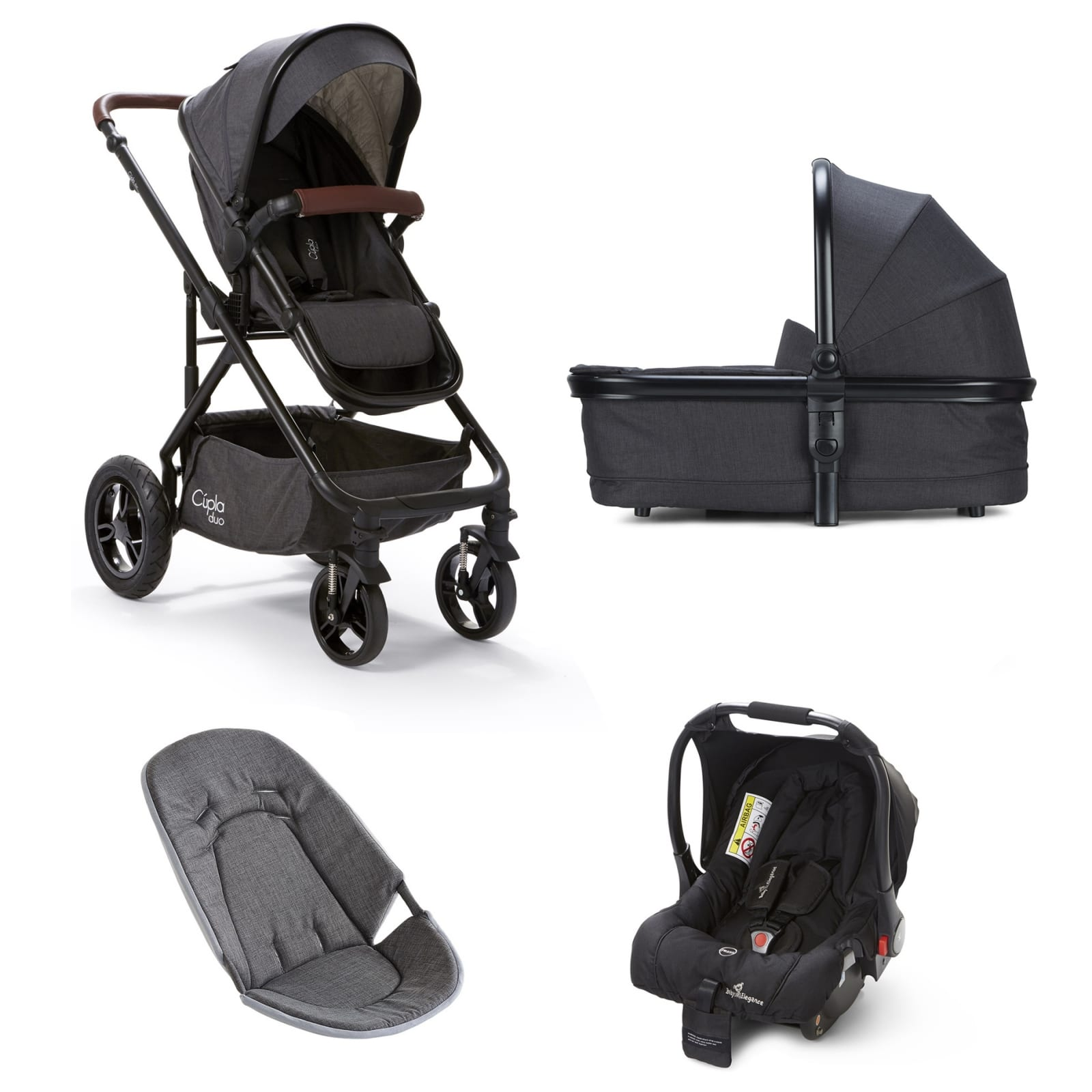 Cupla Duo 3 in 1 Travel System – Charcoal product image