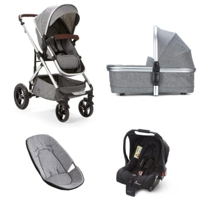 Cupla Duo 3 in 1 Travel System - Grey