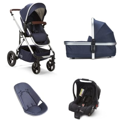 Cupla Duo 3 in 1 Travel System - Navy