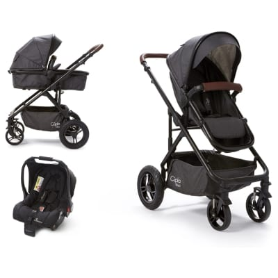 Cupla Duo 2 in 1 Travel System - Charcoal