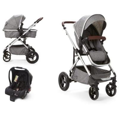 Cupla Duo 2 in 1 Travel System - Grey