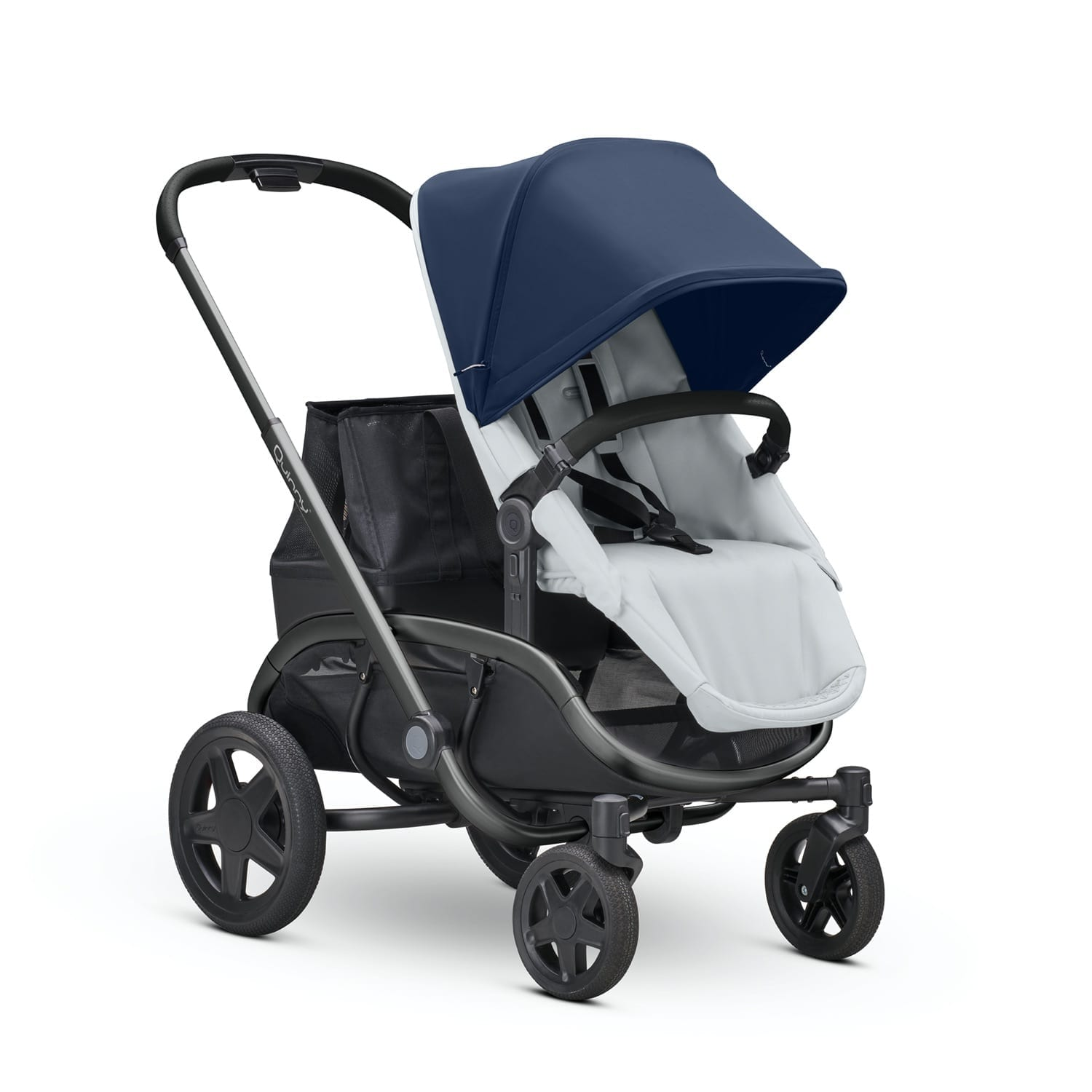 Quinny Hubb Graphite Frame Stroller-Navy on Grey product image