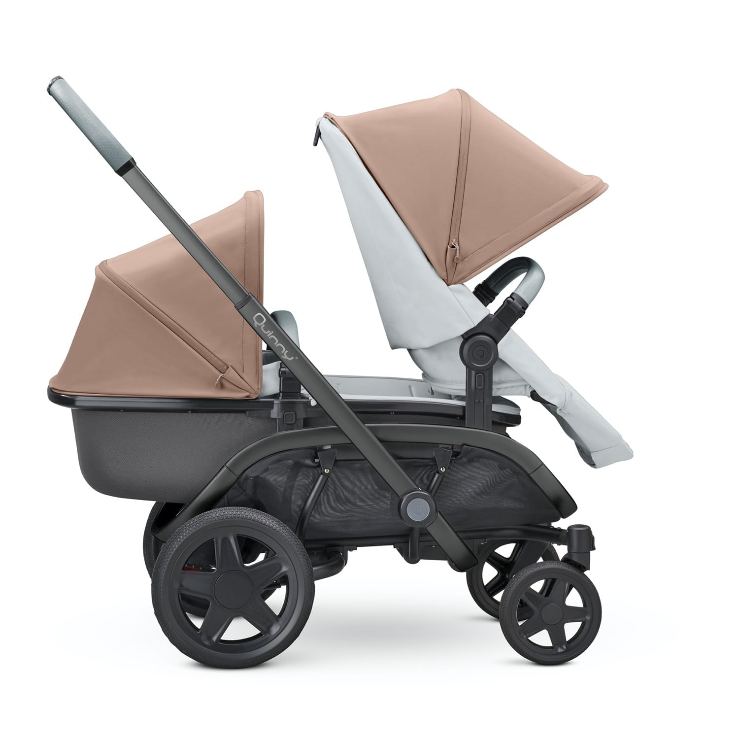 Quinny Hubb Graphite Frame Stroller-Cork on Grey product image