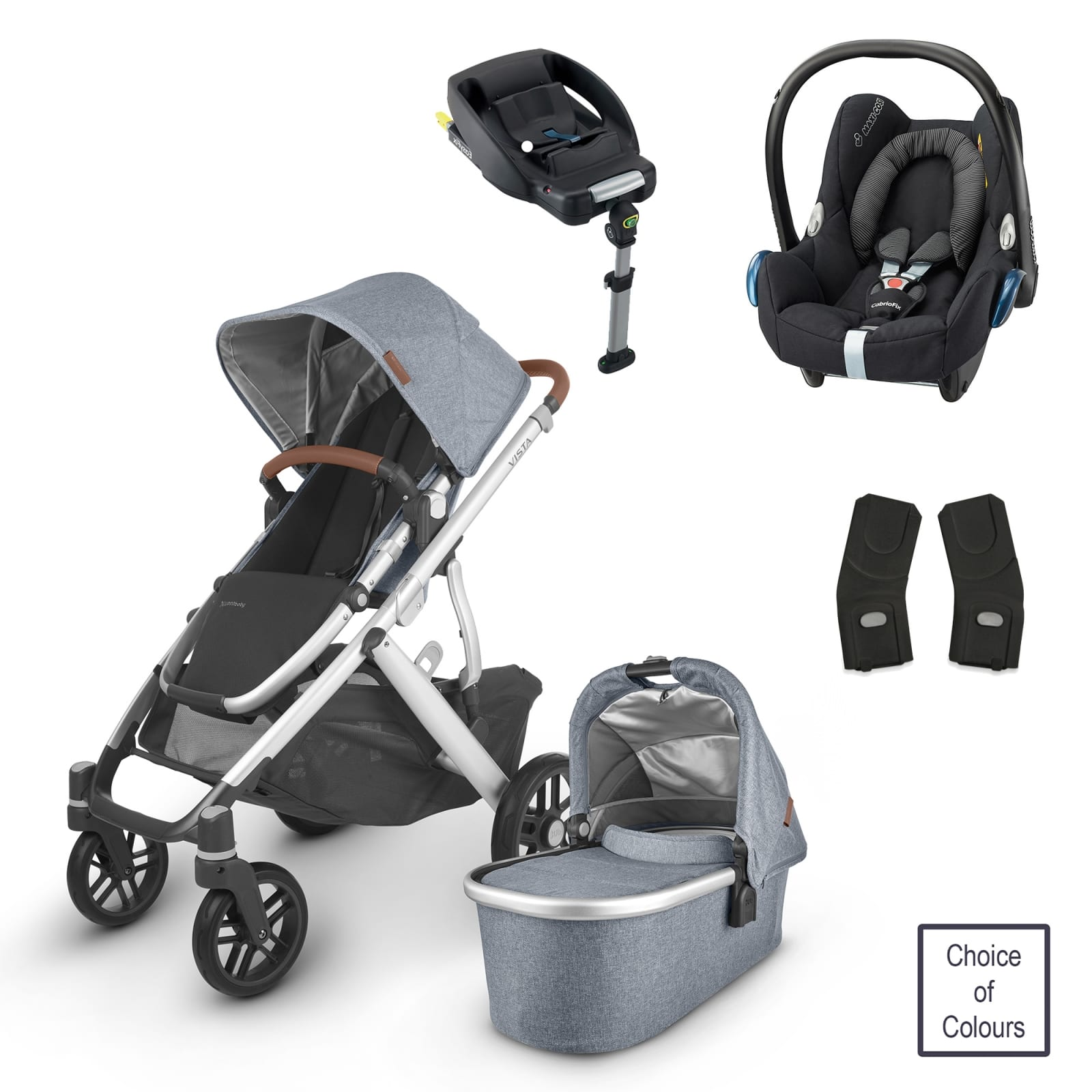 UPPABaby VISTA 2 Bundle with Maxi Cosi CabrioFix & Base product image