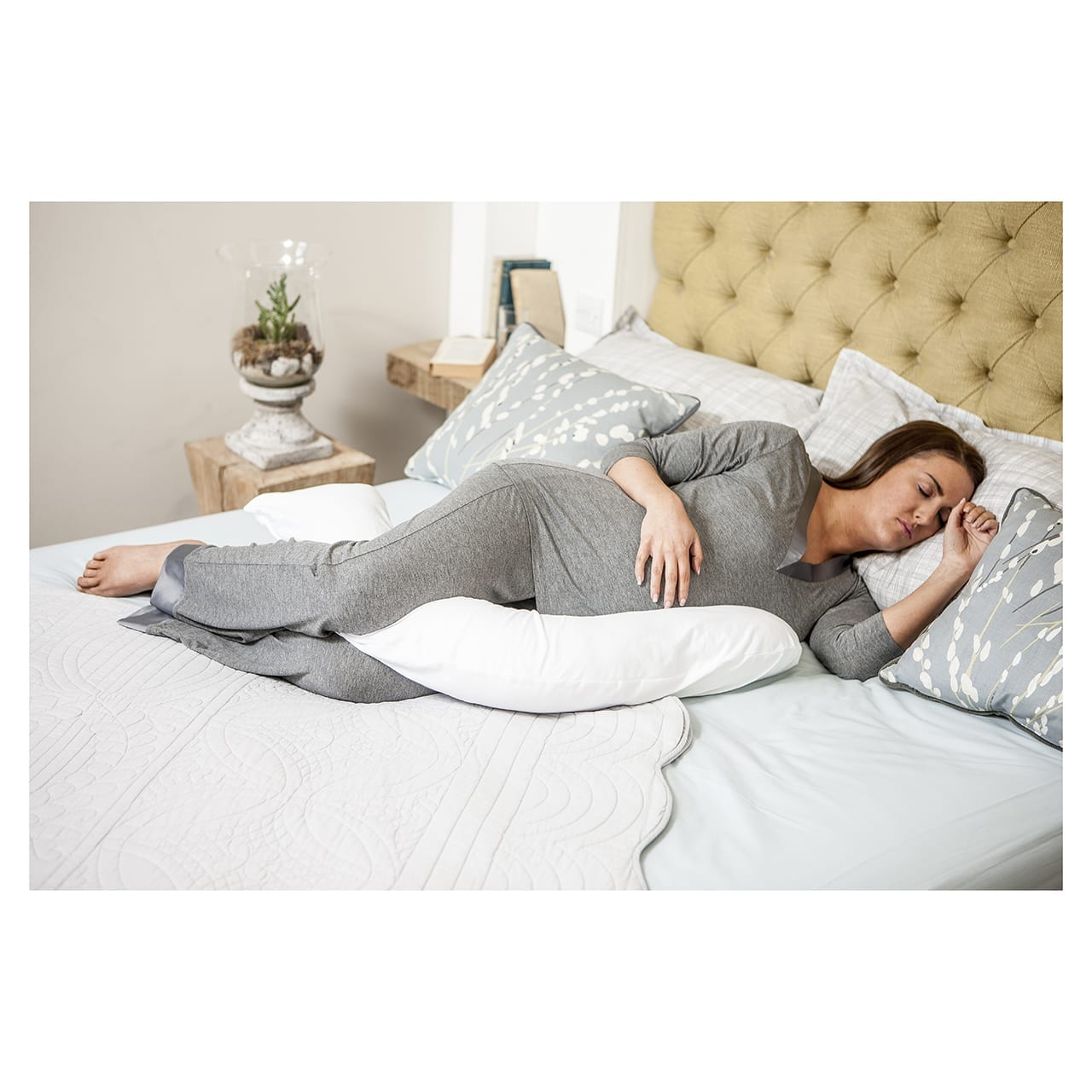 Dreamgenii Pillow – Floral Grey product image