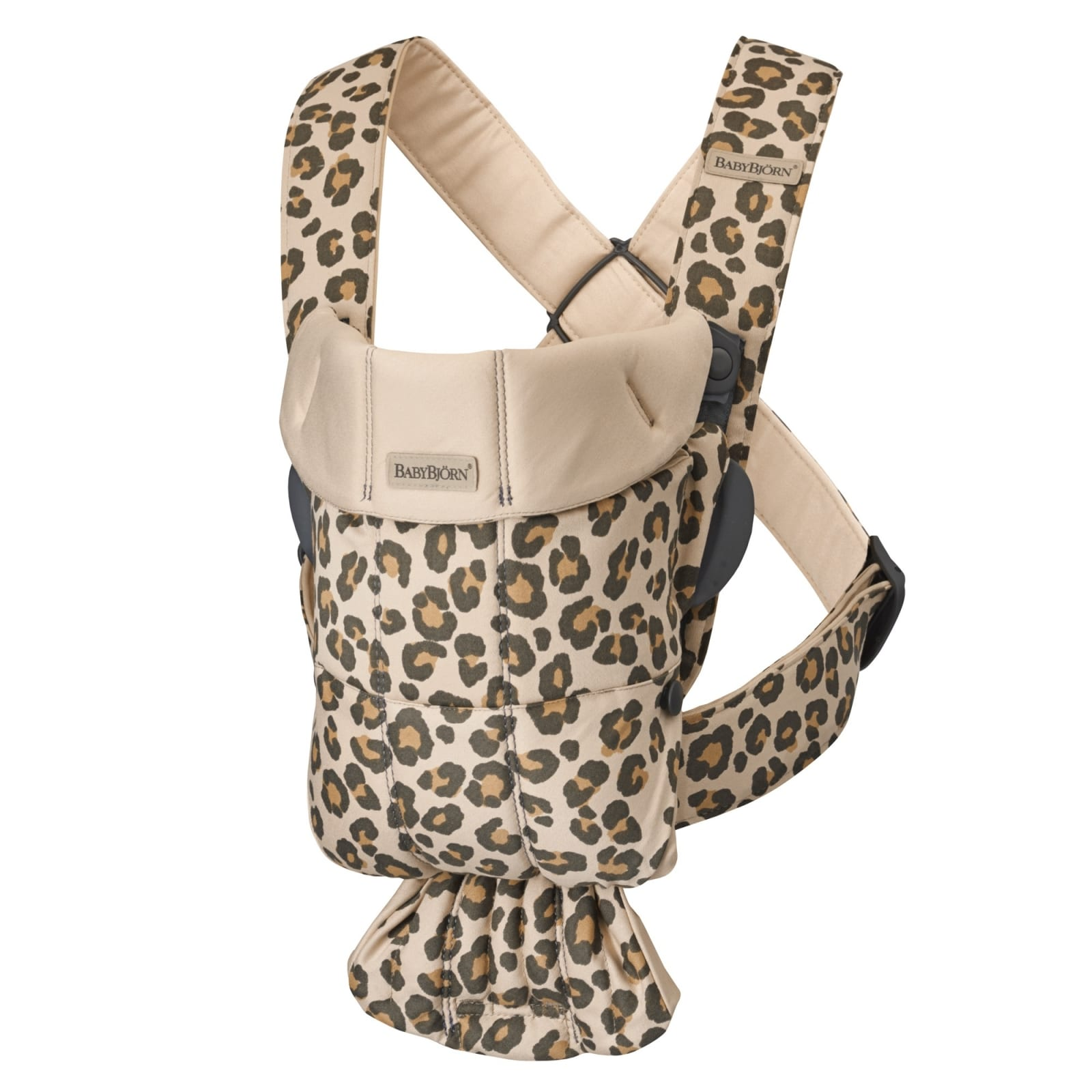 BABYBJÖRN Baby Carrier Mini, Cotton Beige/Leopard product image