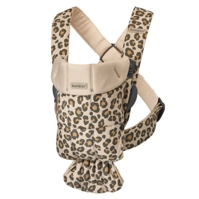 BABYBJÖRN Baby Carrier Mini, Cotton Beige/Leopard